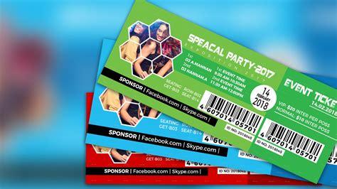 create  event ticket adobe photoshop cc