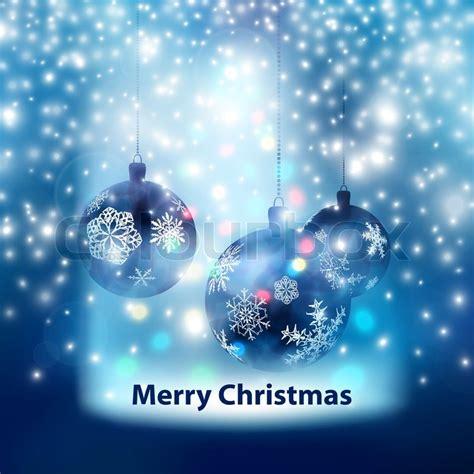 blue merry christmas balls background stock photo colourbox