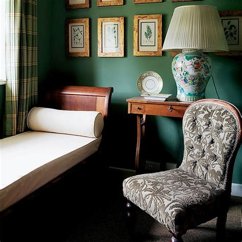 green day bedroom green dressing room with antique day bed checked