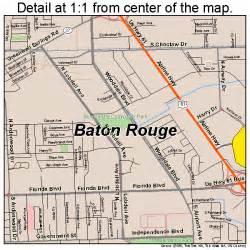 Map Of Baton Rouge Louisiana baton rouge louisiana street map 2205000