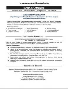 Consulting Resumes Exles by Management Consultant Resume Sle Resume Writing Service