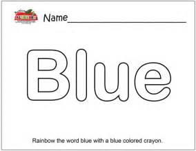 blue coloring page coloring pages preschool lesson plans