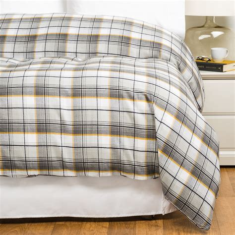 plaid flannel comforter bambeco brigham plaid flannel duvet cover full queen