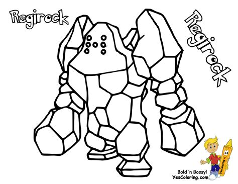 pokemon emerald coloring pages regiceregirockand registeel free colouring pages