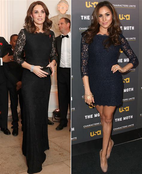 Vs Katee by Kate Middleton And Meghan Markle The Same Lace Dress
