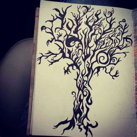sharpie doodle ideas tribal design tree drawing with sharpie arts crafts