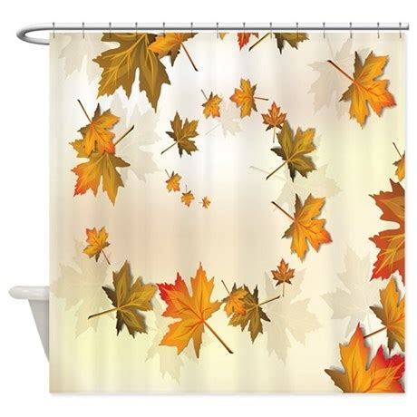 Beautiful Nature Fall Autumn Leaves Shower Curtain By
