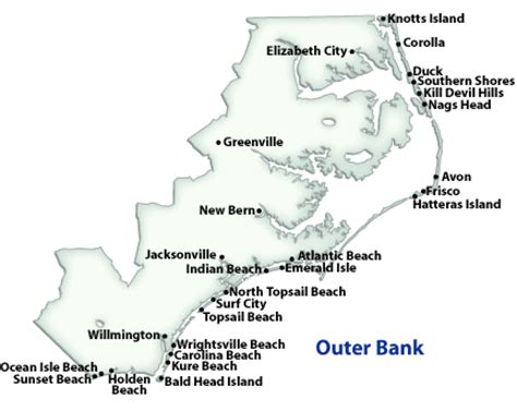 map of outer banks nc outer banks vacation guide simple tattoo designs rentals by owner