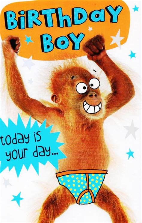 Birthday Boy birthday boy today is your day to go bananas cards
