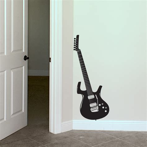 Guitar Wall Stickers guitar music rocker wall decals