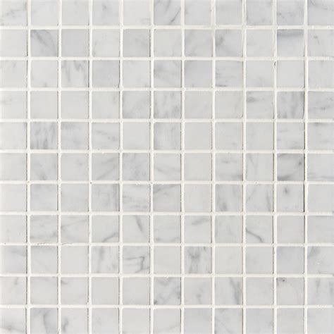 Marble Mosaic Tile by Carrara Carrera Bianco Square 1x1 Quot Polished Marble