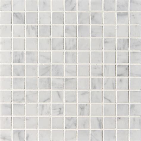 "Carrara (Carrera) Bianco Square 1x1"" Polished Marble"