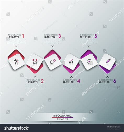process paper template modern infographics process template with paper sheets