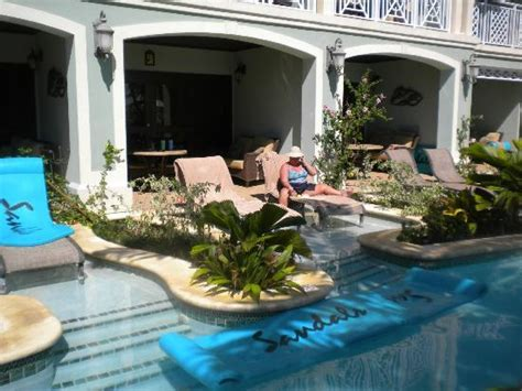 sandals resorts with swim up rooms our swim up room with loungers and patio picture of