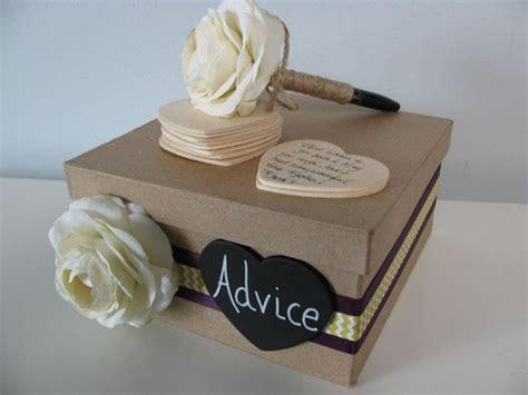 Wedding Advice Box by Wedding Bridal Shower Baby Shower Guest Book Advice