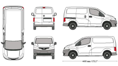 nissan nv200 template mr clipart