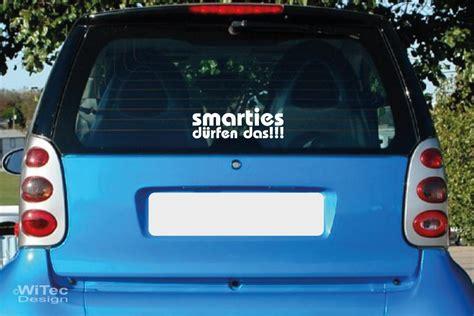 Aufkleber F Rs Auto Smart by Smarties D 252 Rfen Das Autoaufkleber Sticker Auto Aufkleber