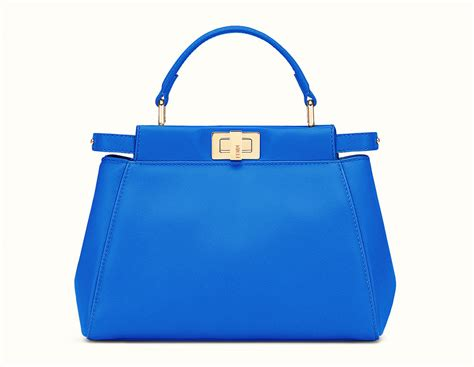 Jual Tas Bag Fendi Peek A Boo Ori Leather Mirror Blue 1 fendi mini peekaboo