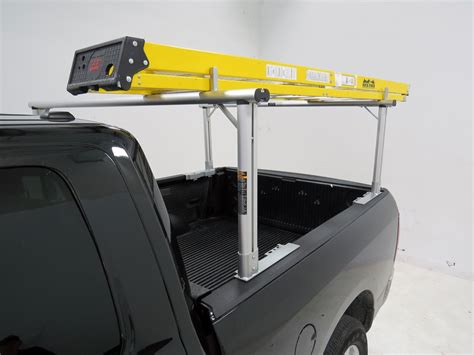 maxxtow truck bed ladder rack w load stops aluminum