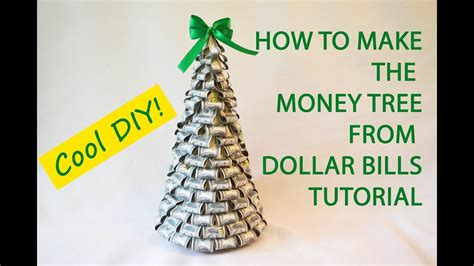 money tree dollars bills craft tutorial diy gift