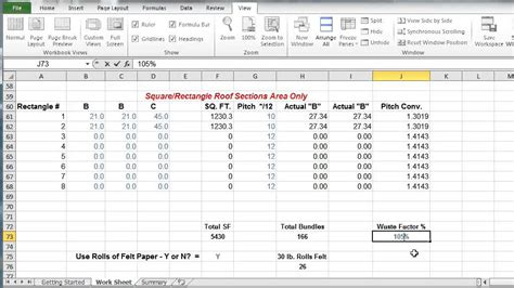 comprotex home building roof shingle calculator in excel instructional video youtube