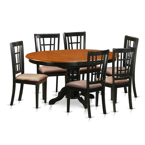 6 Dining Table Set 7 Pc Kitchen Table Set Dining Table And 6 Wooden Kitchen Chairs