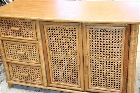 Wicker Cabinet by Bamboo Rattan Wicker Cabinet Side Storage Cupboard 3