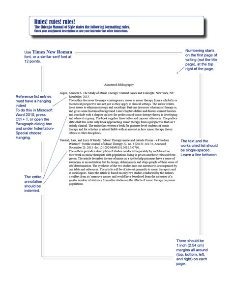 Chicago Style Writing Template by Chicago Style Annotated Bibliography Template