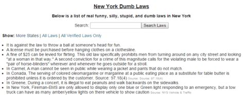 5 websites to about dumb laws in u s