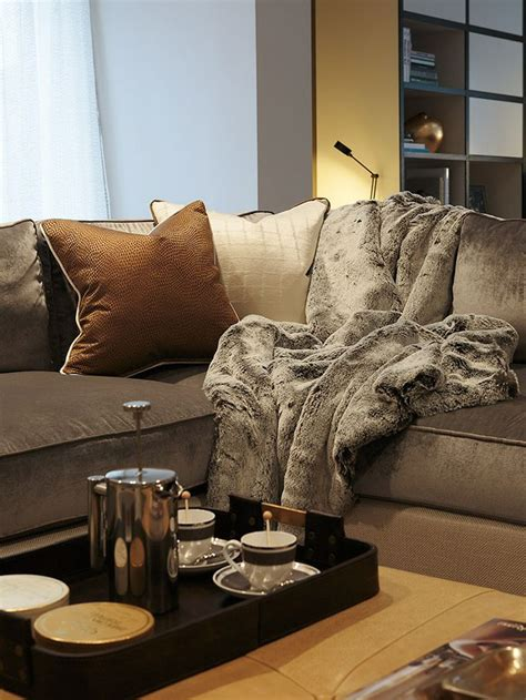 fur throws for sofas ruched faux fur throw ivory pottery