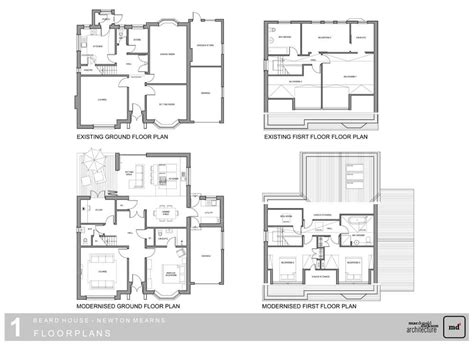 extension floor plans beard house extension newton mearns