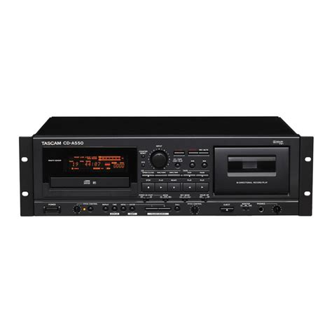 da cassetta a cd lettore cd tascam cd a550 deck a cassette a gear4music
