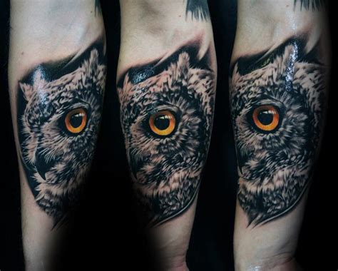 realistic owl tattoo design 40 realistic owl tattoo designs for men nocturnal bird ideas