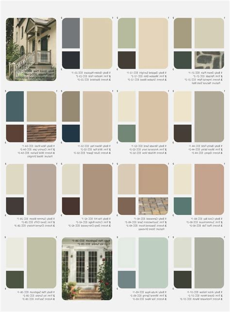 paint palettes for home outside house paint color combinations ideas for the