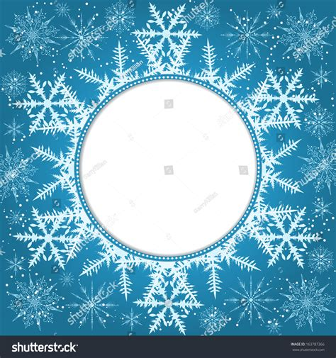 card snowflake templates vector invitation card snowflakes new year stock vector