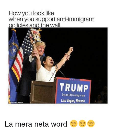 Neta Meme - how you look like when you support anti immigrant olicies