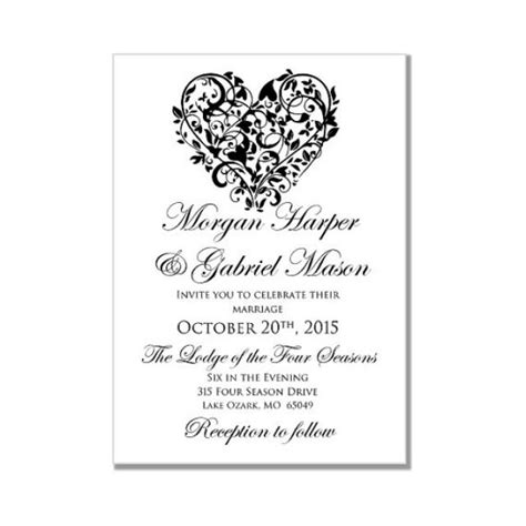 4 microsoft word wedding invitation templates outline templates
