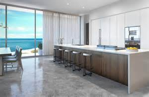 Long Kitchen With Island - penthouse at l atelier residences miami beach kitchen most beautiful spots