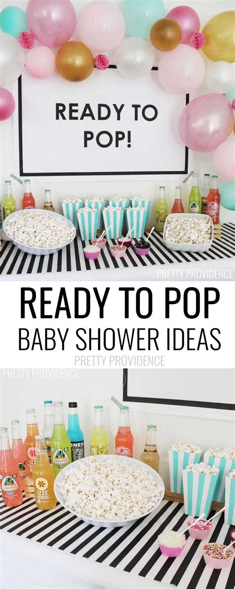ready to pop baby shower baby shower themes theme ideas