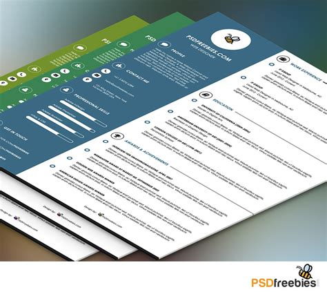 Graphic Resume by Graphic Designer Resume Template Psd Psdfreebies