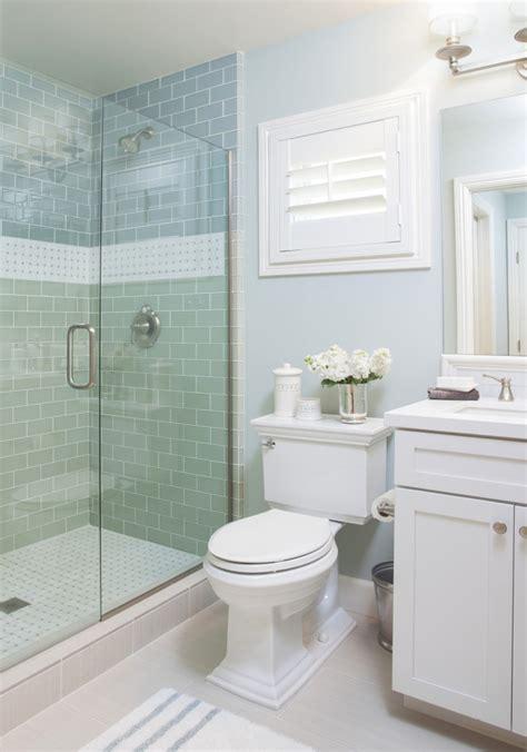 aqua glass tile bathrooms coastal bathroom with aqua blue subway tile agk design