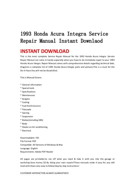 free online car repair manuals download 1986 honda accord user handbook 1993 acura integra free service manual download download free software acura integra auto to