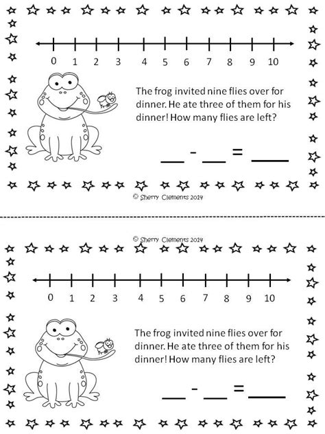 printable number line with words addition number stories kindergarten number lines word
