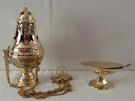 thurible and boat brass thurible and incense boat 6419