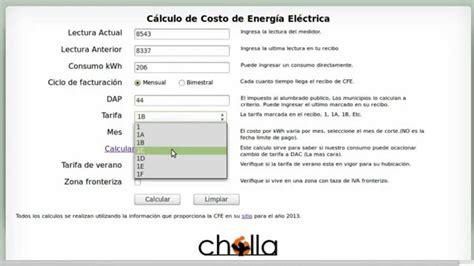 como saber el monto de mi recibo de luz seal arequipa calcula el pago de energ 237 a el 233 ctrica recibo de cfe