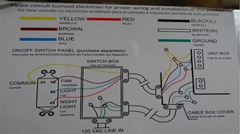 wiring a ceiling fan with light with one switch casablanca fans diagrams progress lighting fans elsavadorla