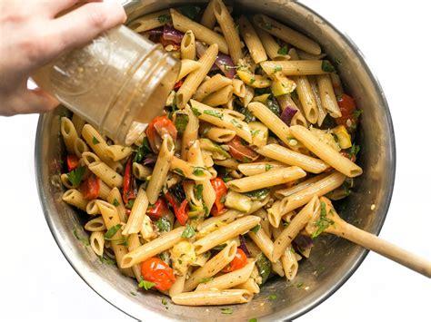 vegetables pasta grilled vegetable pasta salad budget bytes