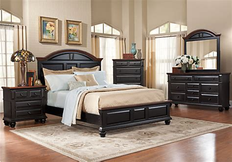Rent To Own Dining Room Sets by Berkshire Lake Black 5 Pc King Panel Bedroom Bedroom