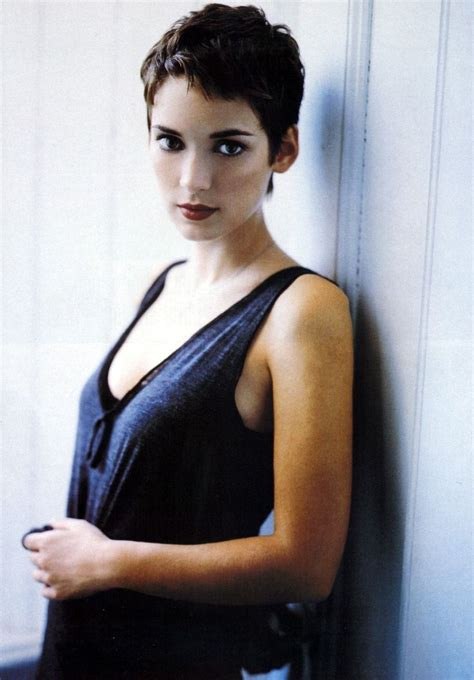 photos of short hair for someone in their sixes winona ryder hair pinterest