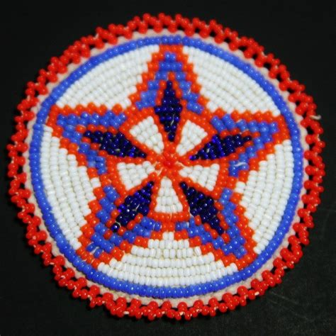 beaded rosette american indian beaded matching rosettes sold